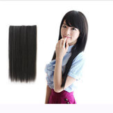 Fashion Wanita Panjang Lurus Curl Synthetic Clip On Hair Extensions