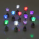 Flashing Flower Led Brincos Orelha Stud Perfect for Party Acessórios de Natal