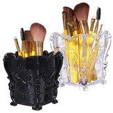 Acrílico recipiente transparente maleta de maquiagem organizador titular de armazenamento cosméticos