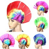 Halloween Cosplay Wig Colorful Carnival Mohawk Wig Fancy Party Mohican Rocker Perruques