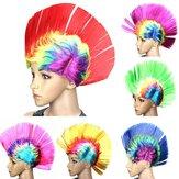 Halloween Cosplay Wig Colorful Karneval Mohawk peruk Fancy Party Mohican Rocker Parykar