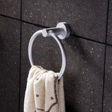 Aluminum Round Bathroom Towel Ring Wall Mounted Towel Rack