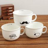 Piccolo gocce di pioggia pecore barba uccello ceramica tazza di caffè