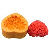 Moule à bonbons au chocolat r0461 silicone rose coeur fondant cake moule