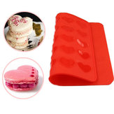 Heart Macaron Baking Mold Silicone Mat Pastry Sheet Muffin Tray