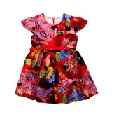 18M-6Y Girls Colorful Summer Flower Dress Baby Kids Skirt