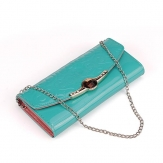 Women Patent Leather Clutch Shoulder Wallet