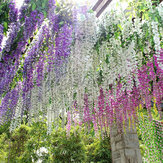 Silk Wisteria Flowers Vine Home Garden Decor Artificial Plant Garland