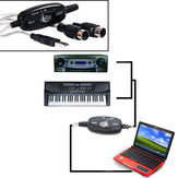 MIDI USB Cable Converter Adapter PC do Music Keyboard