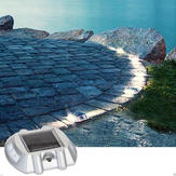 Solar Power White 6LED Road Driveway Pathway Stair Lights