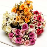 Artificial Roses Silk Flowers Home Room Party Decor