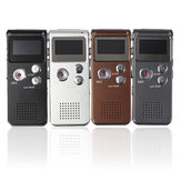 Steel Rechargeable 8GB 650HR Digital Audio Voice Recorder MP3 Player
