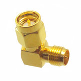 2/5/10 PCS SMA Male to RP-SMA Female Right Angle RF Adapter Connector For RC Drone