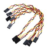 5pcs 3 Pin 20cm 2.54mm Jumper Cable DuPont Wire For  Female To Female