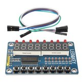 TM1638 Chip Chave Display Módulo 8 Bits Tubo LED Digital para AVR Arduino
