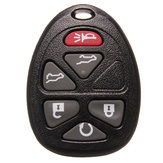 Remote Key Shell Case For Chevrolet Six Buttons Black Replacement