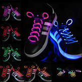 1 пара Cool 19 Color для Pick LED Фонарик Up Glow Shoelaces Party Decoration Toys