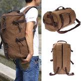 Sac de randonnée de camping de sac à dos de sac à dos de voyage de toile millésimé