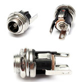 5.5mm X 2.1mm DC Power Supply Metal Jack Audio Socket With Nut And Washer