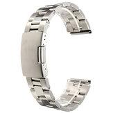 18/20/22/24 milímetros de prata de aço inoxidável relógio banda