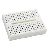 5Pcs White 170 Holes Mini Solderless Prototype Breadboard For