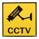 12 x 12 cm Überwachungskameras CCTV-Warnschild