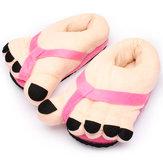 Femmes nouveauté gros orteil coton maison pantoufles amateurs de chaussures d'intérieur