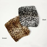 Women Winter Leopard Printed Ear Cotton Hat Scarf