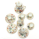1:12 Mini Dollhouse Akcesoria meblowe Colorful TeaSet 15