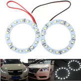 Par de 60 mm blanco ángel del coche ojos luces HeadLight Halo anillo luces de 15 LED SMD chip