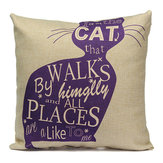 Linnen Cartoom Katten Kussen Kussenhoes Kussen Cover Home Decor