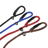 Nylon Corda Pet Cachorro Treinamento deslizante P-Leash Walking Leading Collar