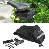 MTB BMX Bicycle Saddle Bag Extendable Portable Back Pack Seat Bag