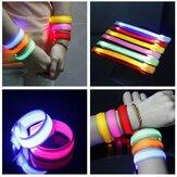 Fahrwerk leuchtend LED Handgelenk Band Lichter Flash Nylon Manschette Armband