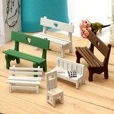 Mini ławka z żywicy Micro Krajobraz Dekoracje Ogród DIY Decor