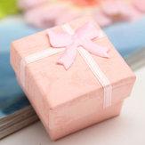 Arco brinco caixa de presente exibição de jóias pingente anel caixa quadrada