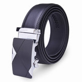 120CM Mens Riem Peritoneale Second Layer Leather Business Automatische Alloy Buckle Strip