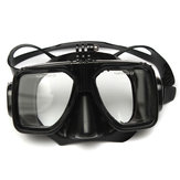 Scuba Snorkeling Diving Mask and Dry Snorkel Tube Combo For GoPro HD Hero 2 3 4 3 Plus