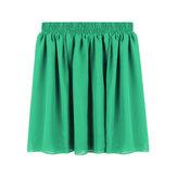 Süßigkeit Farben elastische Taillen Frauen Sommer Chiffon  gefaltetes Mini rock