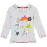 2015 nouveau dessin animé t-shirts à manches longues en coton gris peu été maven baby girl enfants