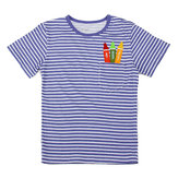 2015 New Little Maven Light Blue Stripe Crayon Baby Children Boy Cotton krótki rękaw