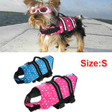 Safety Float Waterproof Adjustable Pet Dog Cat Life Jacket Size S