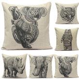 Modelo animal sábanas de algodón funda de almohada tiro cubierta sofá cama colchón