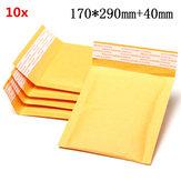 10pcs 170*290mm+40mm Bubble Envelope Yellow Color Kraft Paper Bag Mailers Envelope