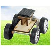 DIY Solar Wooden Car Toy Modelo de montagem educacional para crianças