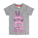 2015 новый летний девочки детская кролик глеевые хлопка с коротким рукавом T-рубашка тройник