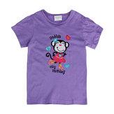 2015YeniYazBebekKızÇocuk Maymun Mor Pamuk Kısa Kollu T-shirt
