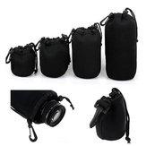 4 Adet Yumuşak Neopren SML XL Lens Kılıf Çanta Canon için Nikon Sony Pentax DSLR Kamera