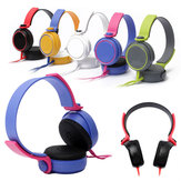 Colourful 3.5mm Stereo Headphone Over Ear Earphone Headset With Microphone