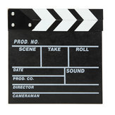 Regisseur Video Scene Movie Clapperboard TV Movie Slate Film Cut Prop